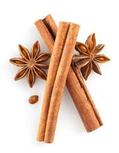 Cinnamon Sticks And Anise Star...