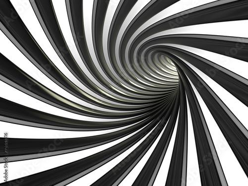 tunel-linii-czarno-bialych
