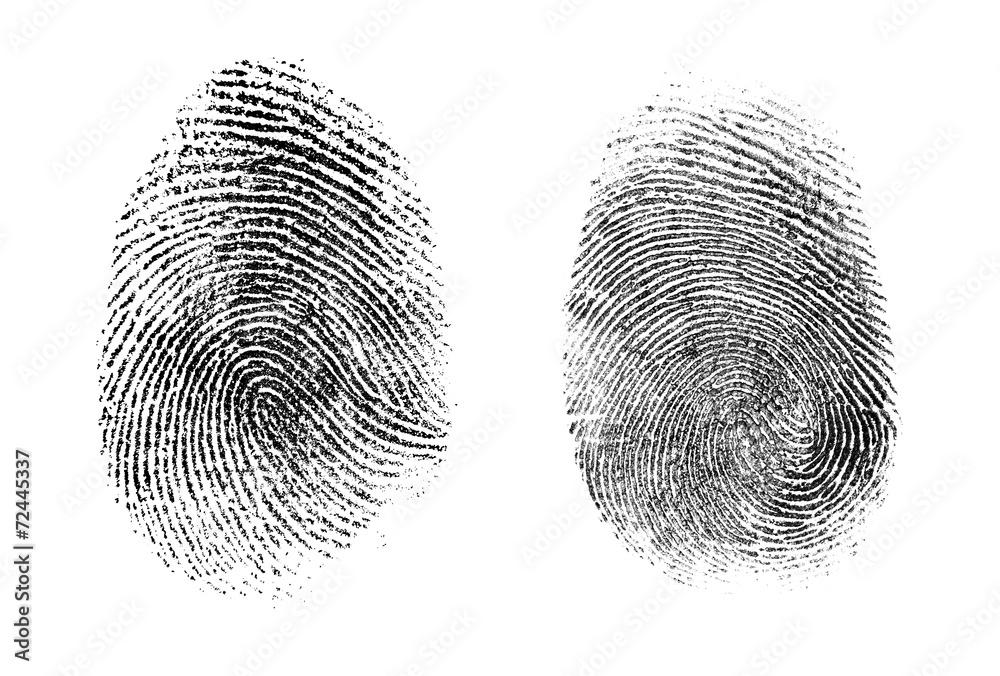 Fototapeta fingerprint or thumbprint set isolated