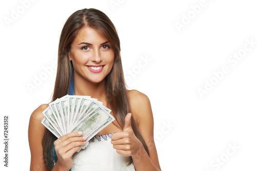 Fotografía  Woman with us dollar money