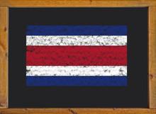 Costa Rica Flag On A Blackboard