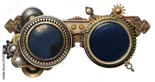 Steampunk glasses Canvas Print