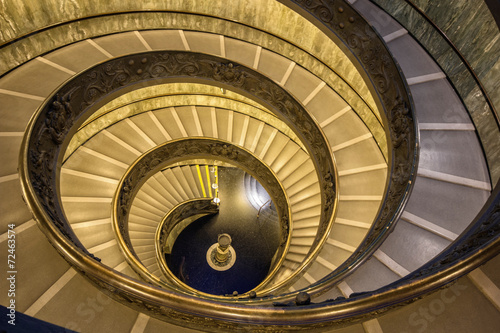 Wall Murals The famous spiral staircase in Vatican