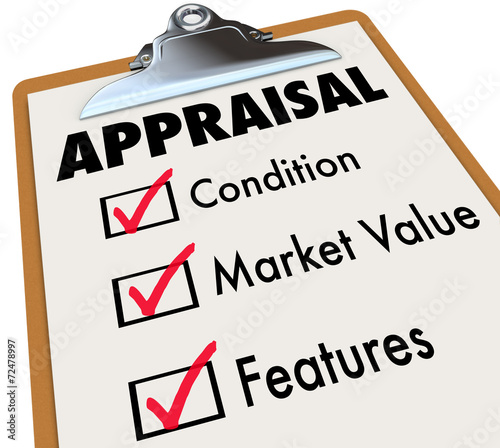 Photo Appraisal Words Checklist Clipboard Factors Condition Market Val