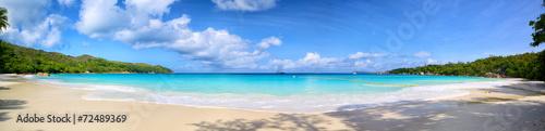 Recess Fitting Panorama Photos Anse Lazio beach panorama, Praslin Island, Seyshelles
