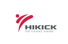 Karate Martial Arts Logo Design Vector. Kick-boxing
