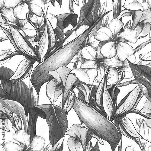 monochromatyczny-wzor-z-egzotycznych-kwiatow