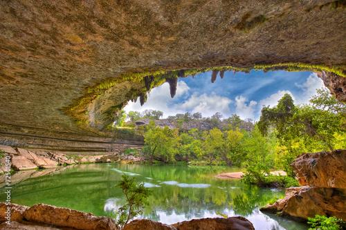 Poster Texas Hamilton Pool sink hole, Texas, USA