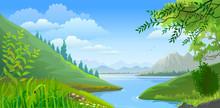 River In Scenic Valley