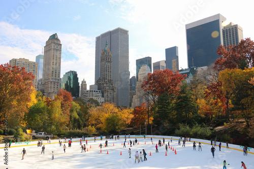 Łyżwiarstwo w Central Parku w Nowym Jorku