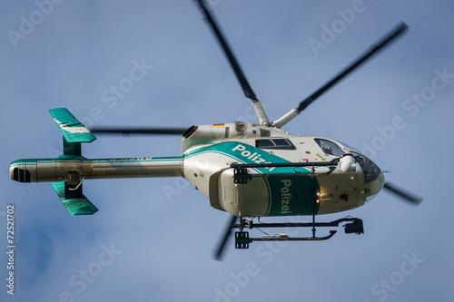 Tuinposter Helicopter Polizeihubschrauber