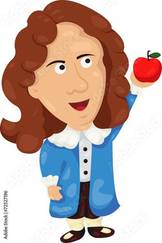Fotografía Illustrator of Isaac Newton