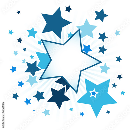 Fotobehang - Abstract background with stars