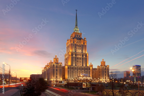 Fototapeta Building of the hotel Radisson Royal, Moscow obraz na płótnie