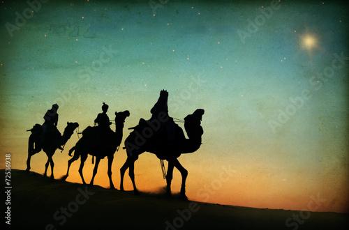 Obraz na płótnie Gwiazda pustyni w Trzech Króli w Betlejem