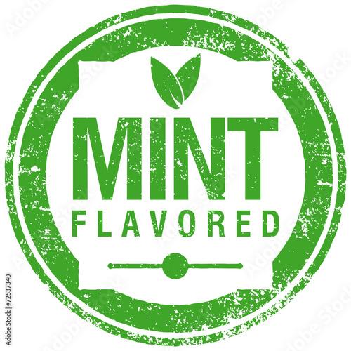 Foto mint flavored stamp