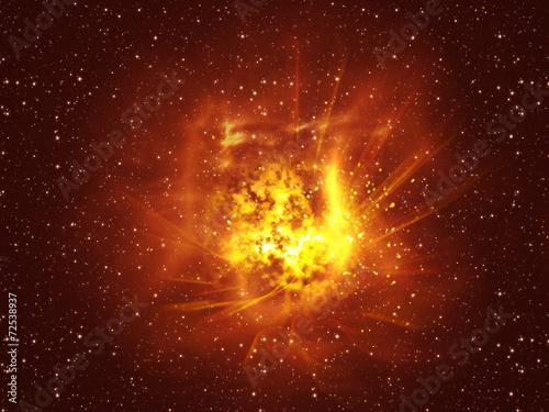 Fotografia, Obraz  Exploding of Star in Space
