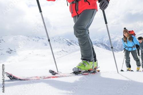 auf Skitour unterwegs Canvas Print