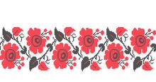 Seamless Ukrainian Traditional Cross-stitch Embroidery Pattern