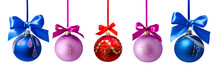 Christmas Balls With Ribbon Is...