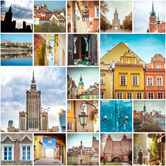 FototapetaCollage of photos from Warsaw