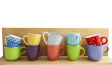 Colorful Cups In A Row