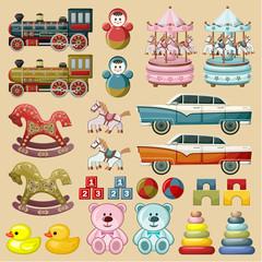 FototapetaSet of toys. vector