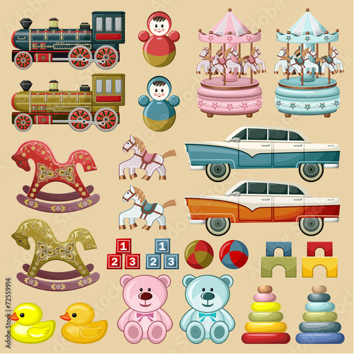 Set of toys. vector - 72559914