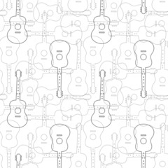 fototapeta gitary wzorki