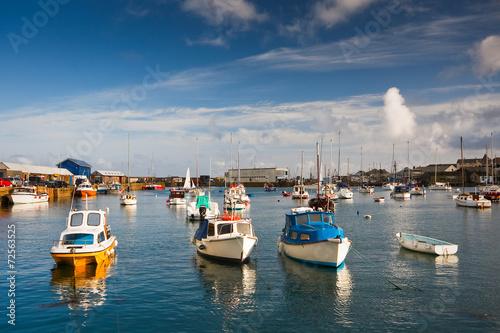 Photo  Harbor in Penzance, Cornwall.