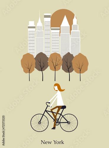 dziewczyna-i-rowery-wektor