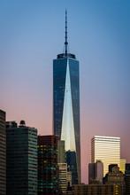 NEW YORK CITY, September 4, 2014: Freedom Tower During Sunrise