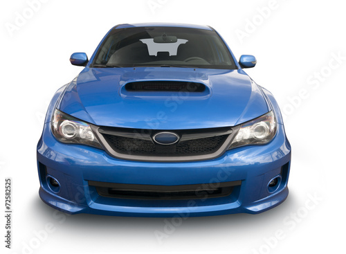Tuinposter Snelle auto s Blue Sports Car