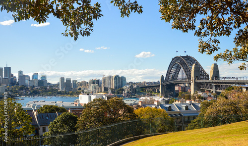 Poster Oceanië Panoramic Lookout of Sydney Harbour Bridge
