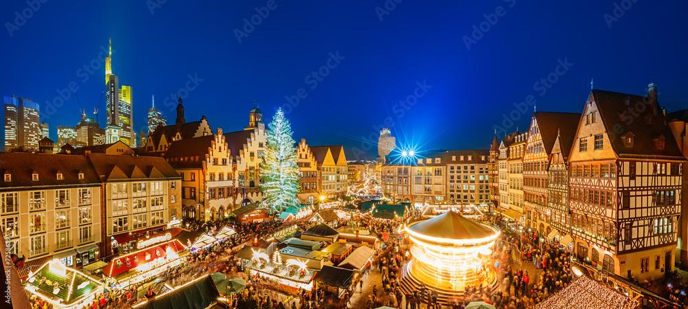 Fototapety, obrazy: Christmas market in Frankfurt