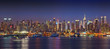 Panoramic view on Manhattan at night