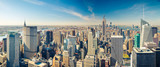 Fototapeta Nowy York - Manhattan aerial view