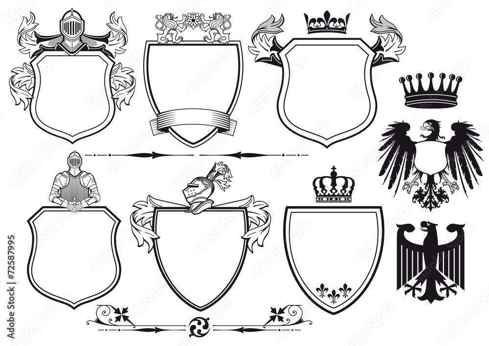 Fototapeta Königliche Ritter Wappen