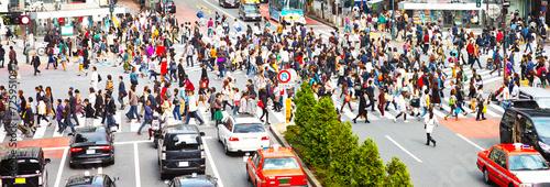 Fotografia 横断歩道を渡る群衆