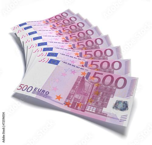 Poster  500 Euro Fächer