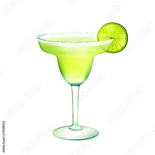 Fotografie, Obraz  Margarita cocktail realistic