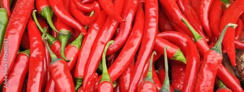 Leinwand Poster roter paprika - chilli