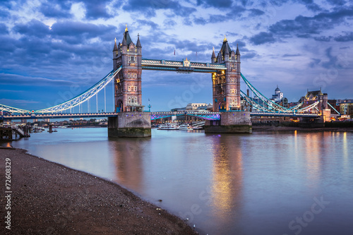 City on the water Famous Tower Bridge at Sunset, London, United Kingdom