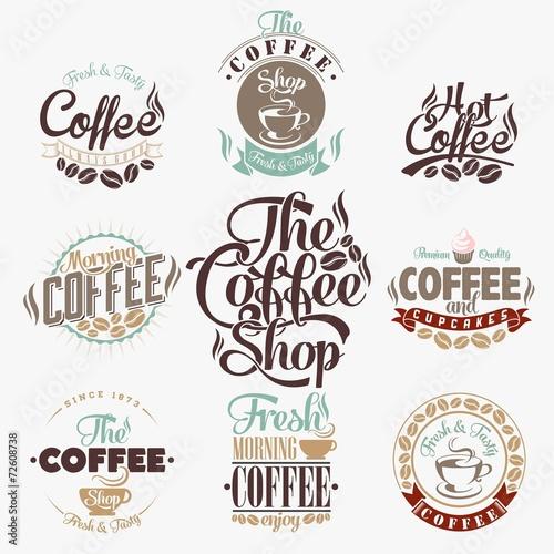 Fotografie, Obraz  Sada Vintage Retro Coffee Etikety