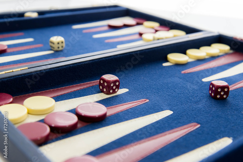 Fototapeta board games - backgammon in play