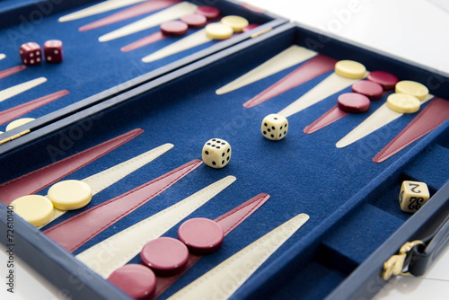 board games - backgammon in play Wallpaper Mural