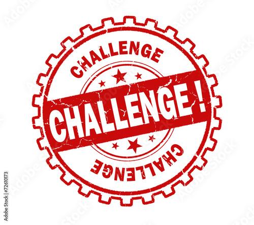 Fotografie, Obraz  challenge stamp on white background