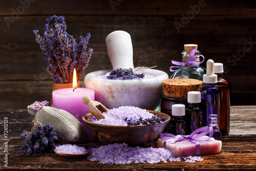 Photo  Still life with lavender