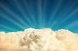 Leinwandbild Motiv Blue clouds and sky