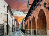 Medieval street in old city of Riga, Latvia - 72623757